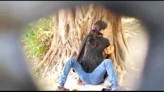 horny hindu couple having sex in public park