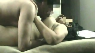 Indian Wife with Big Boobs and Booty sucking fucking and Moaning on Spy cam