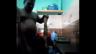 South indian couple fuvking in kitchen with a passion